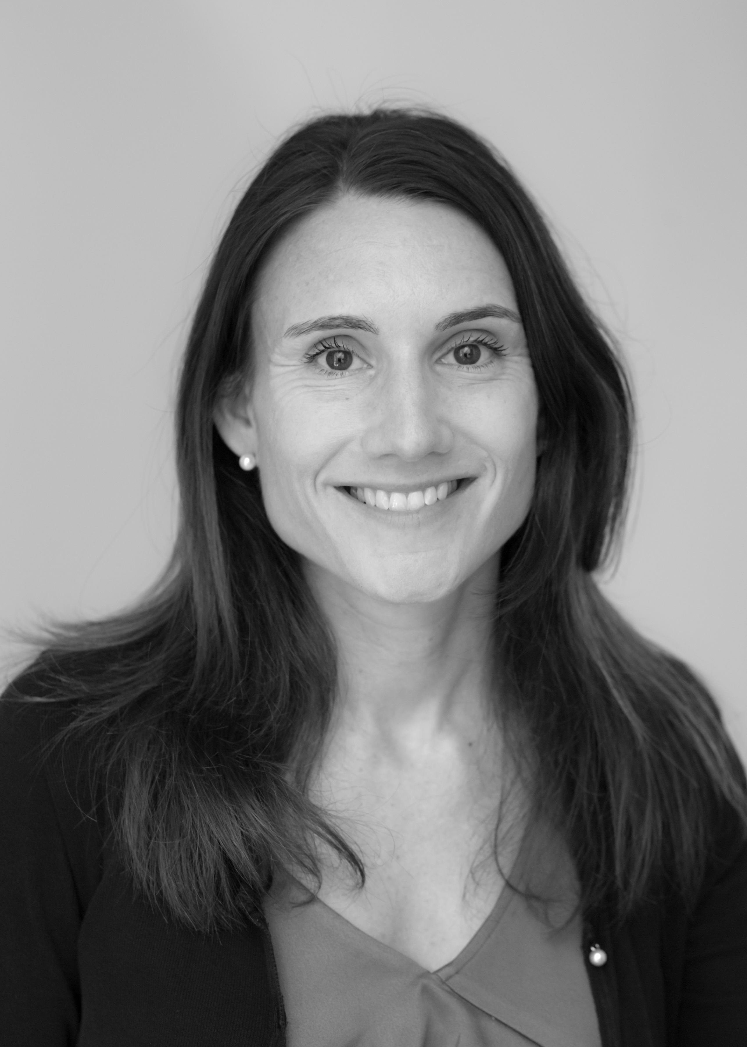 A black and white image of Miriam Kauer, Practice Manager at Ethical Investment Services.