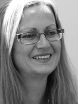 A black and white image of Joy Walsh, the adminstrative officer at Ethical Investment Services.